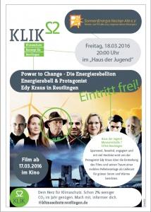 Flyer der Veranstaltung zum Thema Erergierebellion