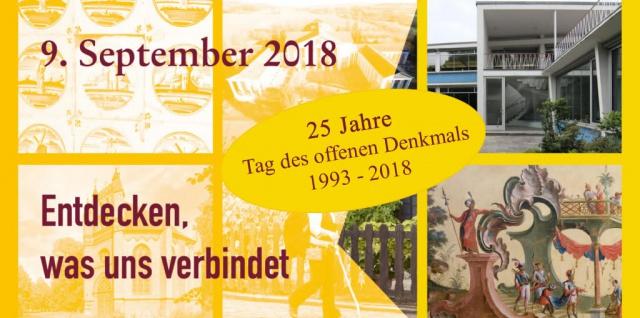 Plakat der veranstaltung 25 Jahre Tag des offenen Denkmals