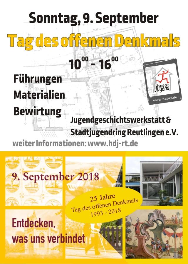 Plakatentwurf für den tag des offenen Denkmals im haus der Jugend 9.9.2018