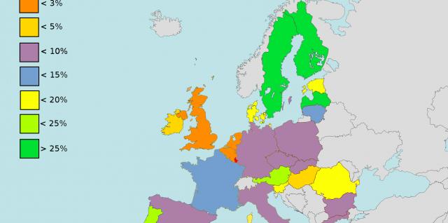 Landkarte der EU